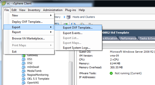 Create a portable virtual machine with OVF or OVA