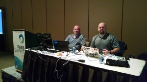 Chris Shaw and John Morehouse setting up for their precon